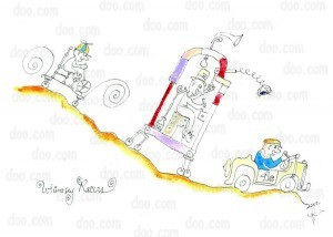 Tell me you never wanted to race whimsical cars down weird landscapes. For the kid in all of us.